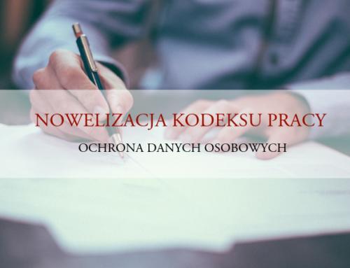 Nowelizacja kodeksu pracy podkątem RODO